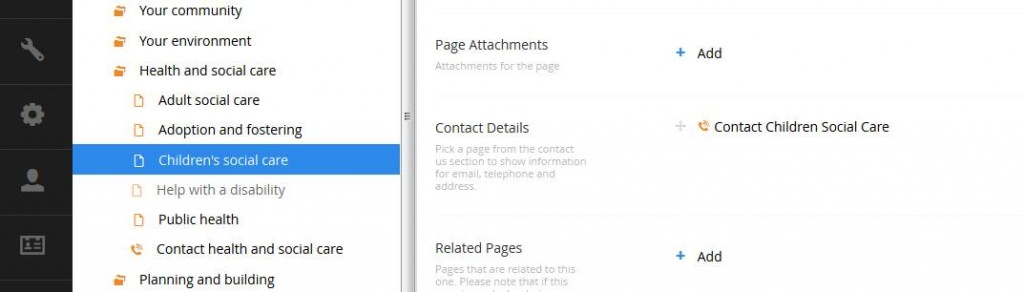contact form umbraco back office