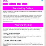 Leicester city of culture 2017 mobile view